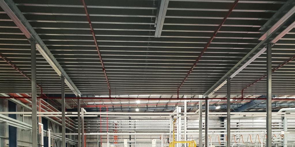 Example of Mezzanine Floor Fire Protection