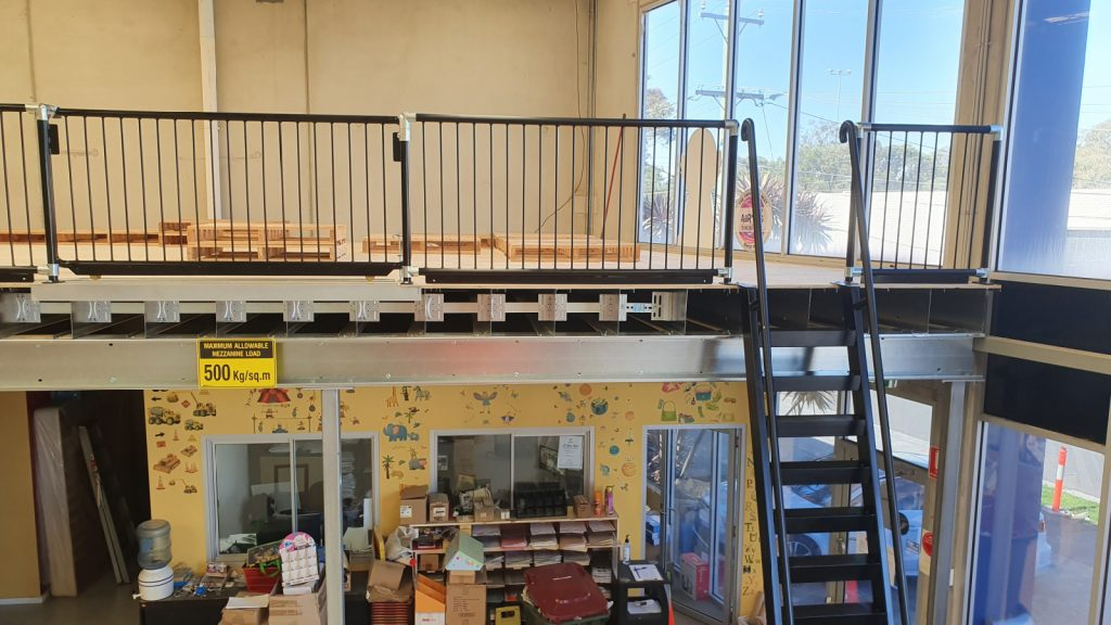 Example of Ladder Style Mezzanine Access