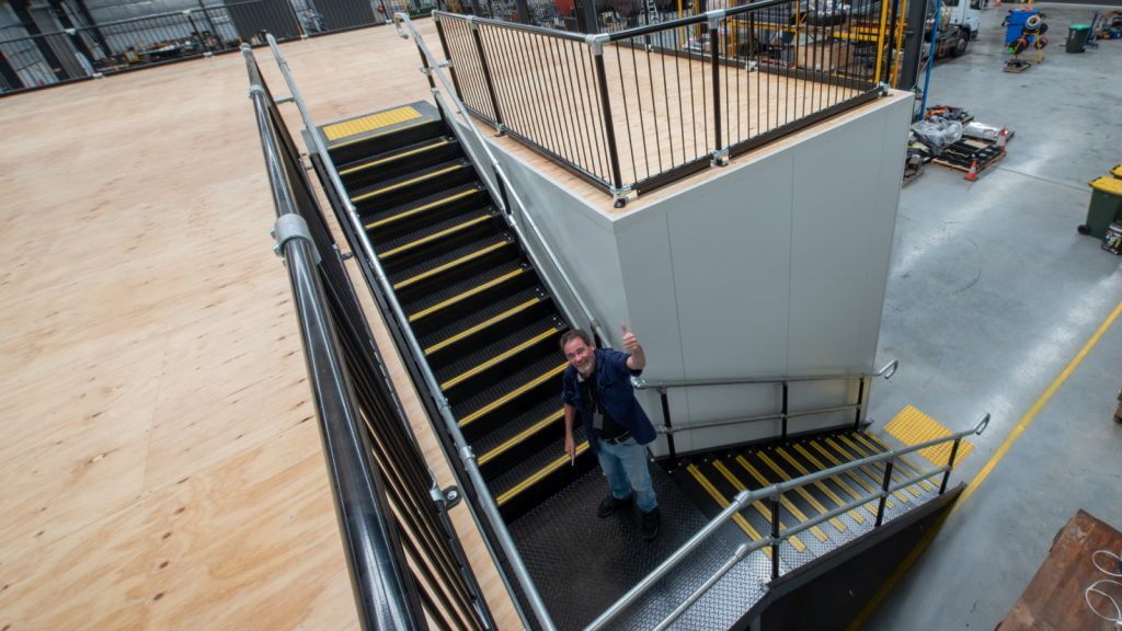 Example of U Shape Mezzanine Floor Staircase