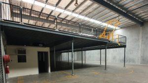 Above office mezzanine floor