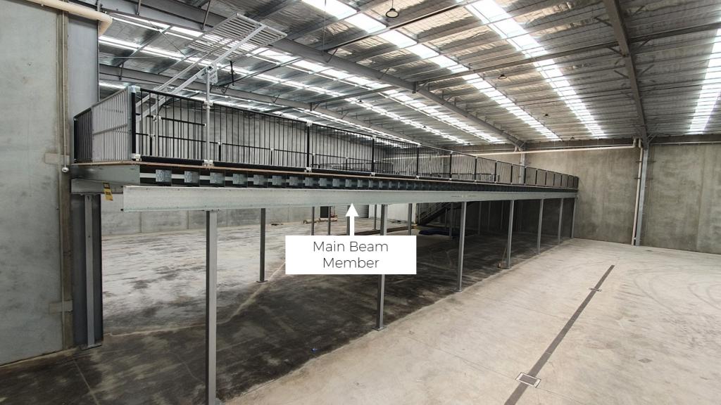 Example of Mezzanine Floor Main Beams (bearers)
