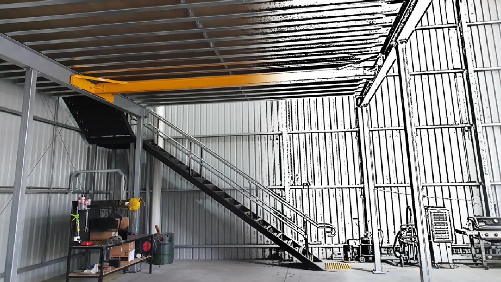 Example of Gantry Crane Mezzanine Floor